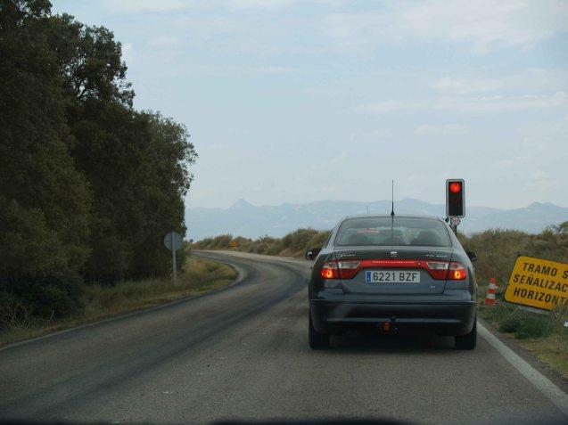 Building roads in Spain.