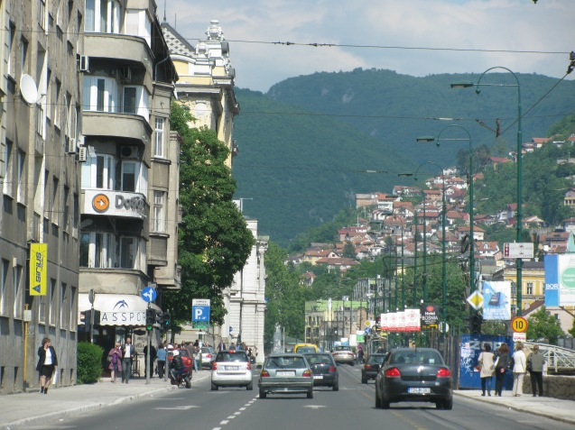 Random picture: driving into central Sarajevo. Photo @DriveEurope.