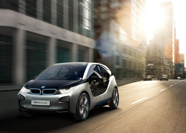 The hotly anticipated BMW i3 electric city car will cost from €34,950 says BMW in a statement. According to Autocar that equates to £25,680 in the UK, including the govt's £5,000 EV grant. The i3 will launch on 29 July, simultaneously in London, New York and Beijing. The first deliveries start in November.