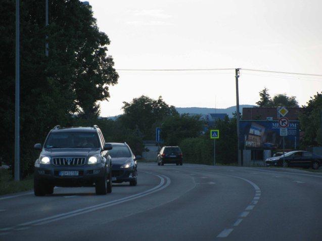 SLOVAKIA - driving into Bratislava, May 2012.