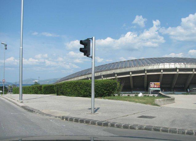 The sea view Poljud Stadium, home of Hadjuk Split football team, southern Croatia.