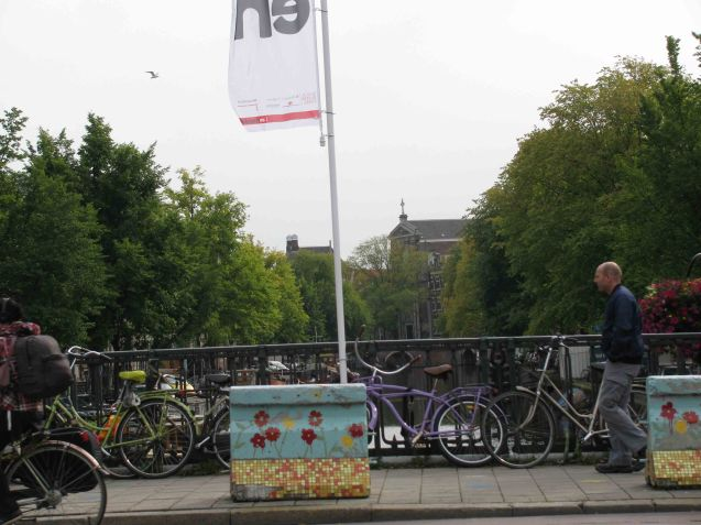 It's virtually impossible to take a picture in Amsterdam without a gaggle of bikes appearing somewhere