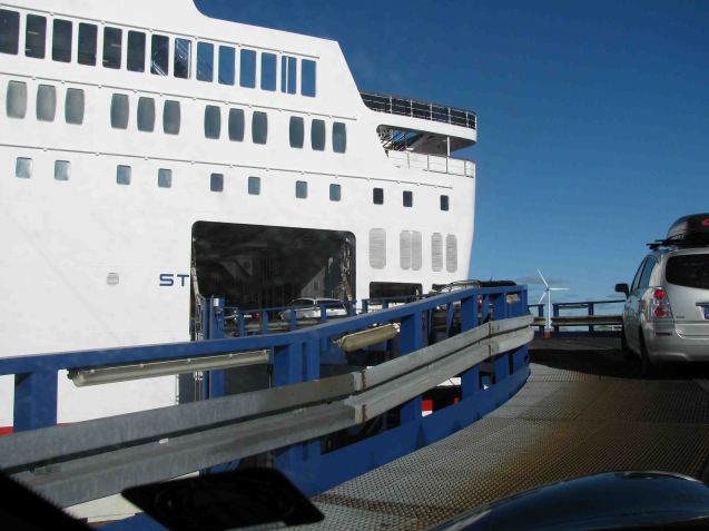 The side loading Stena Danica.