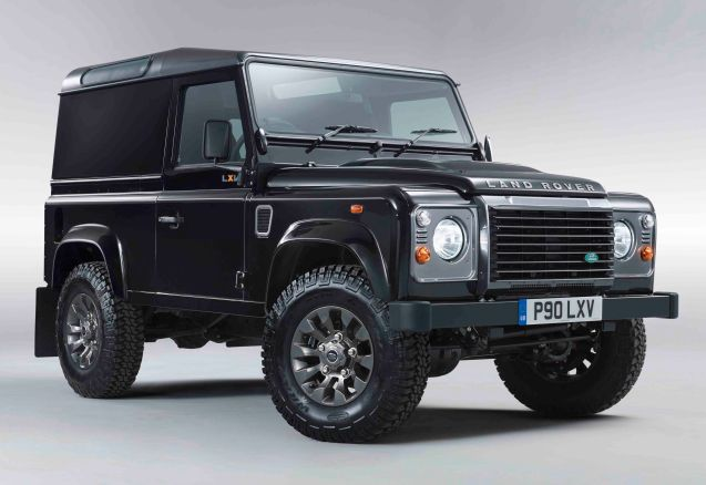 The special edition Land Rover Defender LXV (65 in roman numerals) built to commemorate this anniversary comes in black or white, with grey roof and grille, leather seats with contrast orange stitching and is available in all five Defender body styles. Prices available in August.