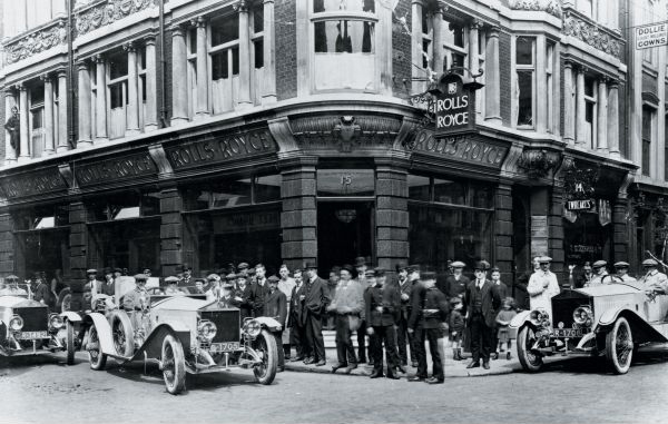 The 1913 Rolls-Royce Alpine Rally works team, led by winning driver William Radley.