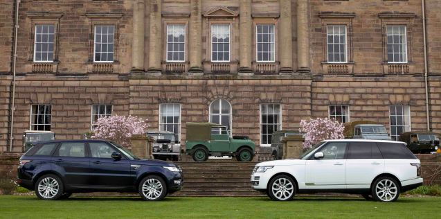 The new Range Rover Sport meets the new range Rover head-on at the Packington Estate, Warcs, as the company celebrates 65 years since the first Land Rover Defender.