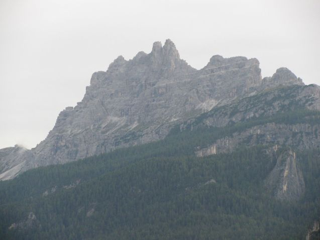 Tofane dominates the view west of Cortina. This is the third highest group in the Dolomites topping out at 10,650ft.