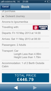 aferry.co.uk's smartphone app really does make booking easy and convenient.