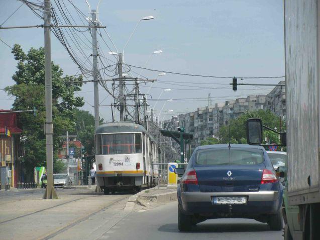 First sight of Bucharest.