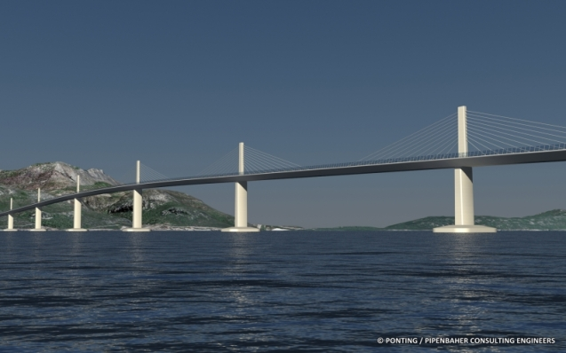 A design study for the Peljesac Bridge by Ponting.si, Slovenia