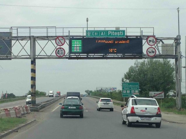 The A1 Bucharest-Pitesti.