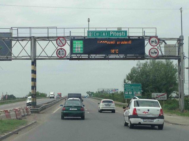 The A1 Bucharest-Pitesti.