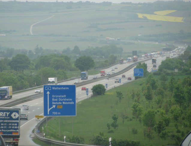 Germany: lovely long motorways, and they are free!