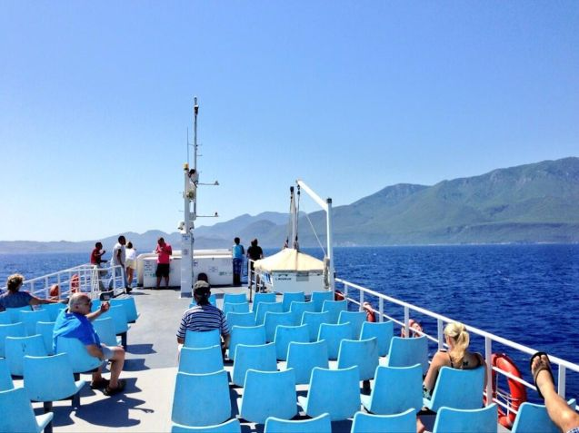 On the Gulf of Gokova, arriving at the Datca Peninsula, Turkey.