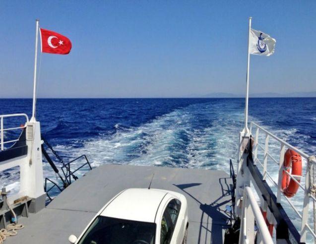 On board the Bodrum-Datca ferry, Turkey
