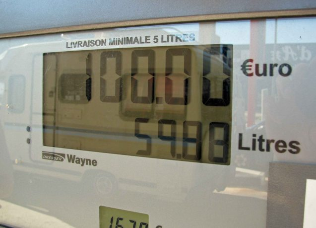 Fuel in France: not as cheap as it used to be.