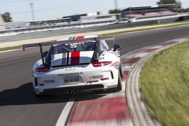 ...it's off to the Slovakia Ring for some hot laps in the passenger seat of brand new 991 GTS Cup cars.
