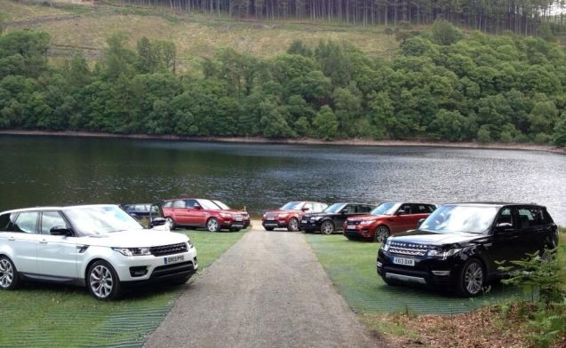 The new range Rover Sport is in the process of being introduced to the international press corps. They of course cannot say where they are, but there are sheep and lakes/rivers involved, so it's got to be Scotland?