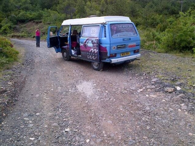 A Windy500 team tackles unmade mountain roads in Albania and herds of wild tortoises.