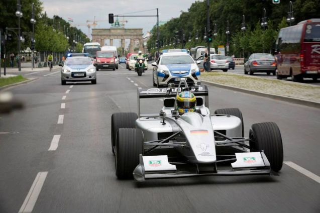 FormulaE: the all-electric race series announced Berlin as its race venue. 'Yesterday'. Queue the inevitable shots of the Brandenburg Gate. The actual track though is around Tempelhof Airport, the monumental, Nazi-era airfield in walking distance of the city centre (though it redeemed itself with a starring role in the Berlin Airlift).