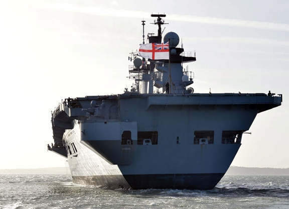 HMS Illustrious. Photo via www.royalnavy.mod.uk