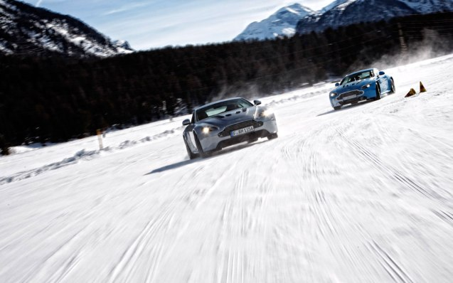 Aston Martin on Ice. A two day trip to St Moritz in Switzerland learning to handle the quintessential British sports car on the slipperiest surface. The all-inclusive package, apart from travel to the resort, includes six hours tuition on a frozen lake, accommodation at the Kempinski Grand Hotel and use of cars, fuel, insurance, etc. There are eight separate sessions, all in early February next year. The maximum number of drivers is 20. It costs €3,200 per person though you can take a non-participating guest for €600. Be quick, two sessions are sold out already and another two are for German speakers only. See www.astonmartinonice.com for more. The company also offers a four day, driver-only ice driving course in Lapland next February for €5,900.