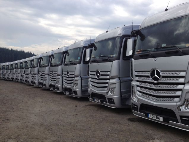 Truck fans will enjoy the Grand Prix, it seems every team - plus formula one management (FOM) - buy new rigs every season. Parked out by fagnes.