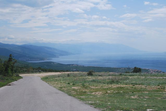 Random pic: northern Croatia. Having successfully negotiated our mountain detour - with hearts I our mouths most of the time - we get our first proper view of the Adriatic.