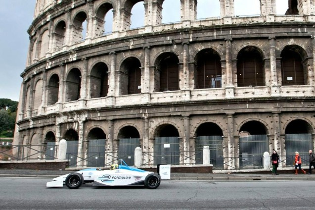 Rome will not feature on the inaugural Formula E racing calendar. It's a big surprise considering the Eternal City was scene of the series' first glitzy launch event last December. Since then, of course, the previous mayor has been deposed in favour of the reputedly anti-car Ignazio Marino. As we've reported ad infinitum, the road around the Coliseum has since been closed to private traffic because vibration and pollution from cars has damaged the ancient amphitheatre. It wouldn't be seemly then to turn it into a racetrack. But the point of the non-vibrating, non-polluting Formula E is that they help seduce the general public away from conventionally powered vehicles. Perhaps the bike-mad 'Mayorino' really does have a problem with powered transport in all its forms. Let's hope he never gets his hands on Ferrari.