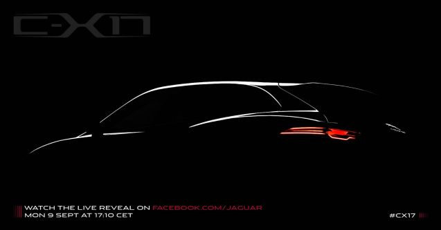 Jaguar CX17 teaser, tobe launch at the Frankfurt show.