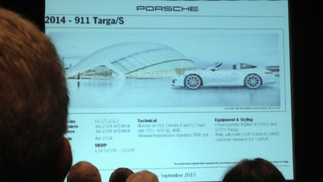 The new 911 Targa. Picture filched from Jalopnik.com on a public interest basis.