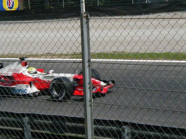 Blast from the past. Ralf Schumacher's Toyota at the second Lesmo during the 2005 Italian Grand Prix.