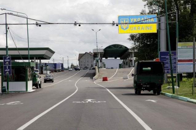 The Poland-Ukraine border. Picture courtesy of FRONTEX, the EU border agency.