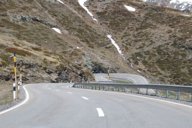 Random: descending the Bernina Pass, from St Moritz, Switzerland, to Tirano, Italy.