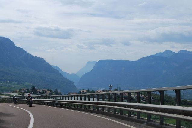 Italy: descending the Dolomites to the Brenner Pass A22, the busiest