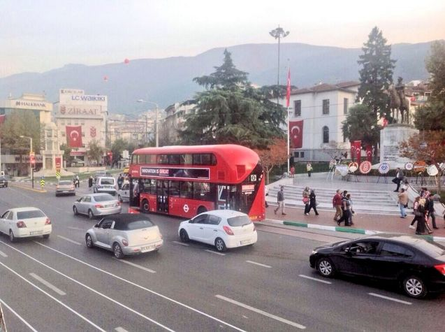 TURKEY: after Hungary and Austria, the GREAT Britain Tour - which has bagged a claimed £600m in business so far - now takes to Turkey. Today's stop is Bursa, around 100km as the crow flies due south from Istanbul across the Sea of Marmara. Bursa is the fourth biggest city, pop. 1.7m, and an important industrial centre, especially cars production - Fiat, Renault and Bosch have factories here. On the north west slope of the 8,500ft Mount Uludag, next to a fertile plain, it's also a popular tourist destination, for skiing and hot springs.