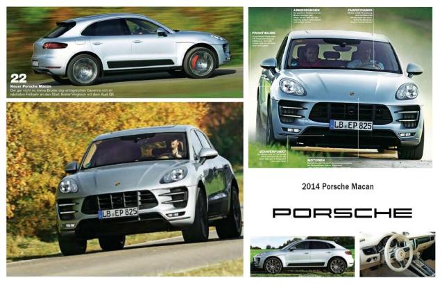 First undisguised pictures of the imminent Porsche Macan midi SUV published in Germany today.