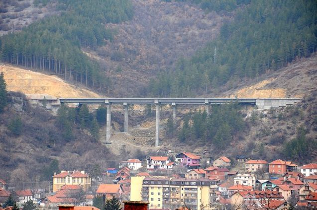 Serbia: The E80 Dimitrovgrad Bypass under construction near the Bulgarian border.