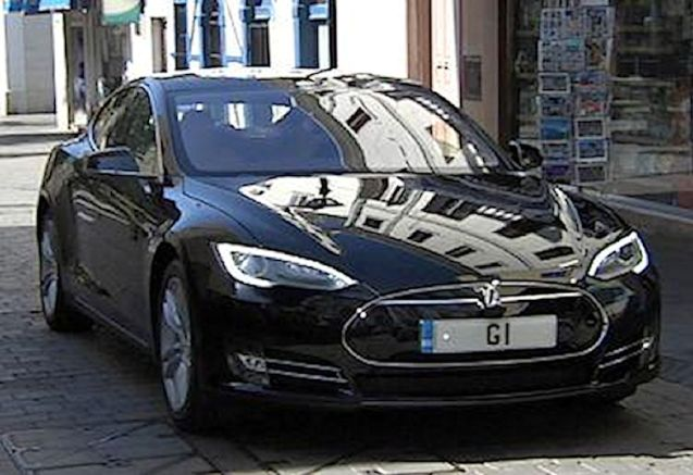 The first Tesla Model S in southern Europe belongs to the Gibraltar government.. Imported directly from California