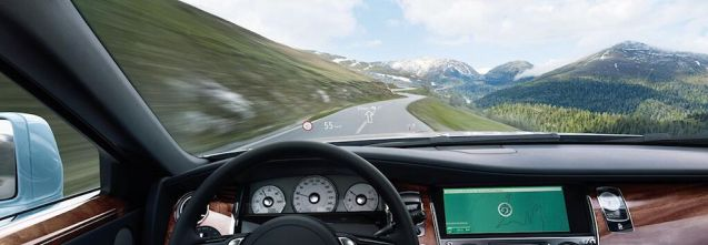 Commanding view: head up display in the Rolls Royce Ghost.