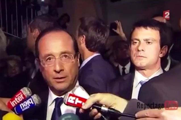 Manuel Valls (r), sexiest politician alive? Next to Francois Hollande, maybe.
