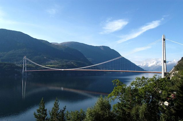 Hardanger Bridge, south west Norway.