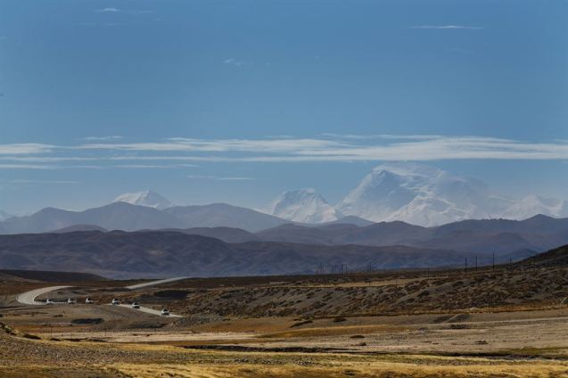 Range Rover Hybrid prototypes on final test on Silk Roads in Kyrgyzstan earlier this month.