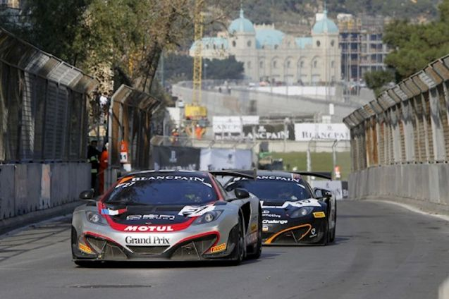 Baku: Stephane Ortelli and Laurens Vanthoor won the race, and the FIA GT Series championship, at yesterday's inaugural Baku World Challenge, around the streets of the Azerbaijani capital. The event went well, save for an errant curb repaired during the race, and looks set to become the regular season closer in the renamed Blancpain Sprint series. It was a race of highs and lows for rising Mclaren F1 star and Jenson Button protégé Stoffel Vandoorne, @svandoorne: 'And that was it for the @FIAGTSeries race in Baku. It really hurts to see our car retire with electronical problem when being in the lead :(' Pic via www.fiagtseries.com ©V-IMAGES.com/Fabre