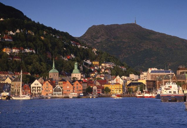 Bergen harbour. Photo courtesy of Bergen Tourist Board/Per Nybo. For more see www.visitBergen.com