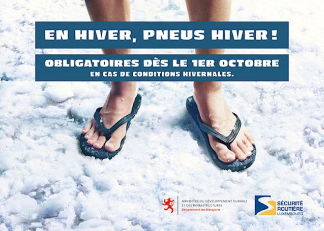 Luxembourg: Penus Hiver - winter tyre - campaign.