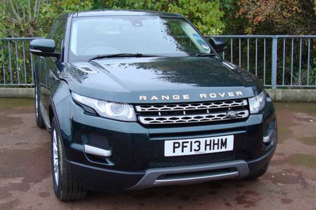 A Range Rover Evoque 2.2SDi Dynamic in Aintree Green with black interior. What we've ordered.