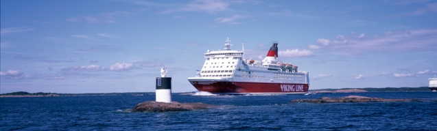 Viking Lines' M/S Amorella at the Aland Islands, Finland.
