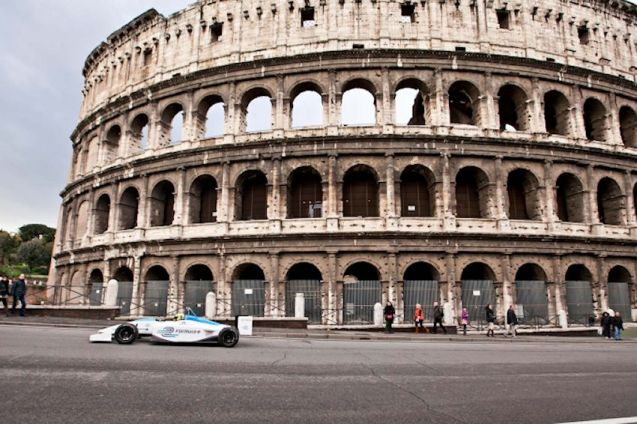 The silent, all-electric racing cars series wa slaunched in Rome in December 2012, six months before Marino's election since when it's been wiped off the calendar.
