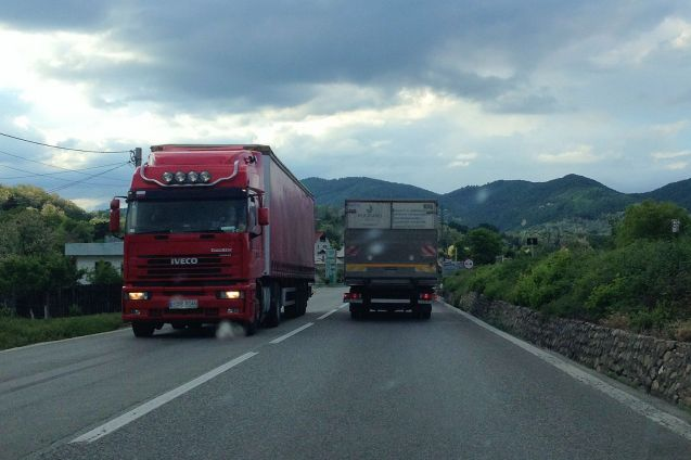 Trucks in Romania, on the